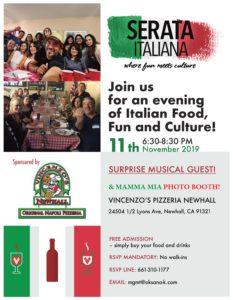 Serata Italiana Social Flyer